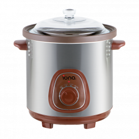 IONA 6.0L Auto Slow Cooker with Double Boiler