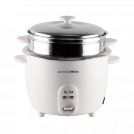 IONA 1.8L Stainless Steel Rice Cooker with Steamer