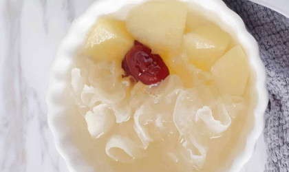 Apple and Snow Fungus Soup with IONA Purple Clay Slow Cooker